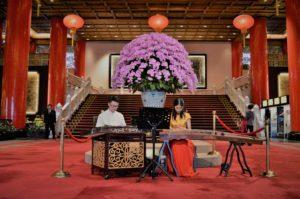 台北ホテルエントランス演奏